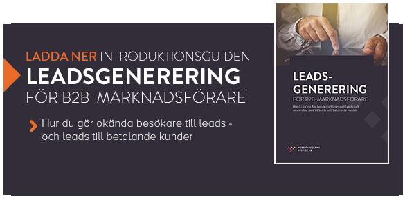Ladda ner guiden Leadsgenerering för B2B-marknadsförare