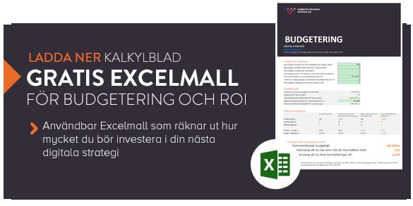 Ladda ner gratis Excelmall för budgeting och ROI