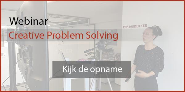 Bekijk de webinar Creative Problem solving