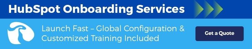HubSpot Onboarding Services