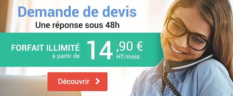 Téléphonie d'entreprise - Forfait illimité à partir de 14,90€ par mois