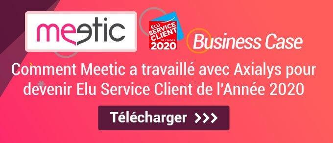 Etude de cas Axialys : Meetic élu service client de l'année 2020