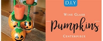 Halloween DIY - Wine Glass Pumpkin