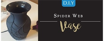 Halloween DIY - Spider Web Vase