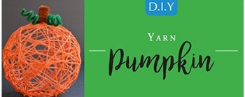 Halloween DIY - Yarn Pumpkin