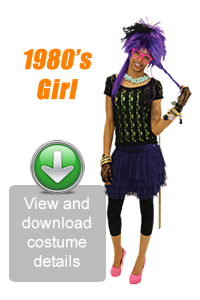 Create Your Look - 1980's Girl
