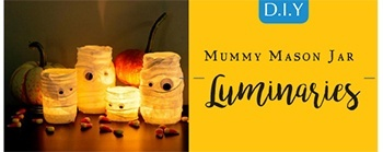 Halloween DIY - Mummy Mason Jars