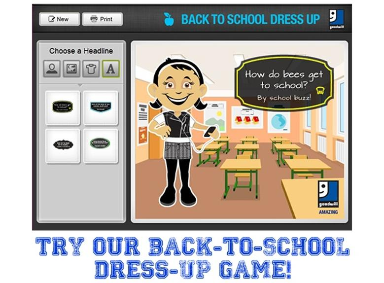 Play the Goodwill Back-to-School Dress Up Game