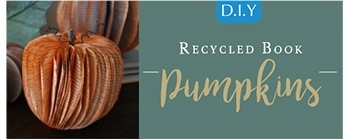 Halloween DIY - Recycled Book Pumpkin
