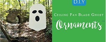 Halloween DIY - Ceiling Blade Lawn Ornaments