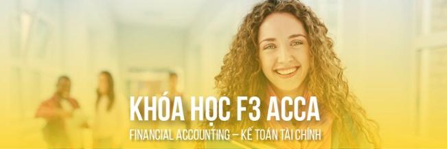 Đăng ký tư vấn khóa học F3 ACCA - Kế toán tài chính