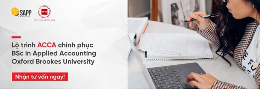 Lộ trình lấy bằng Cử nhân Kế toán Ứng dụng BSc in Applied Accounting Oxford Brookes University