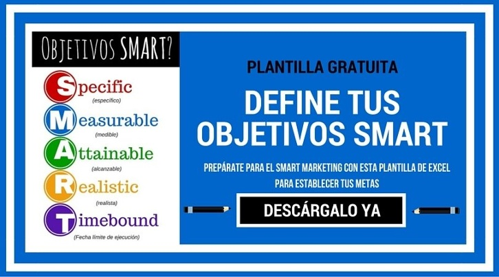 Descarga esta plantilla para definir tus objetivos SMART de Marketing