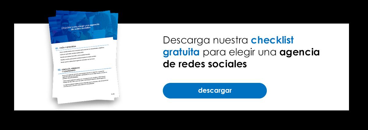 Descarga Gratis la Checklist para elegir una Agencia de Redes Sociales