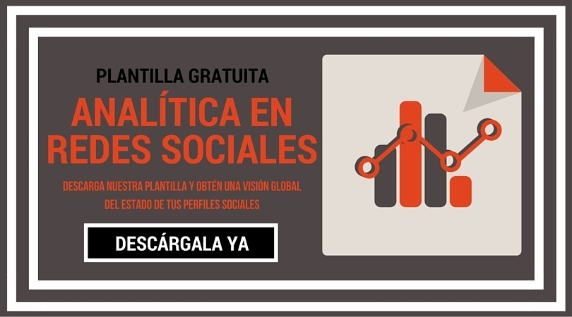 Plantilla gratuita de analítica en redes sociales