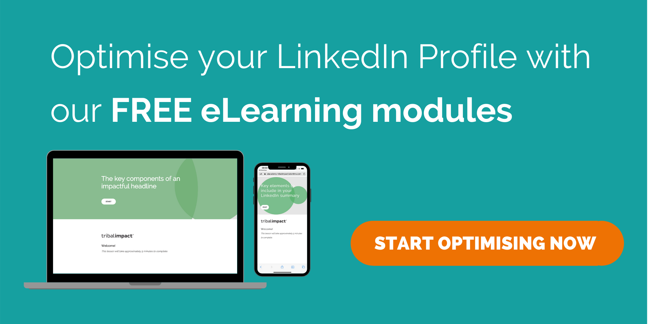 Learn how to optimise your LinkedIn profile with our FREE eLearning modules