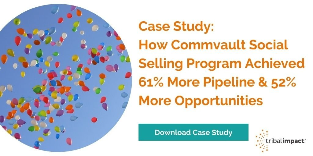 How Commvault Achieved 61% More Pipeline Via Social Selling
