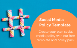 social media policy template blog sidebar