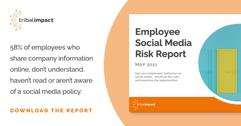 Employees on Social Media, a Risk or an Opportunity? Download our 2021 report  to find out!