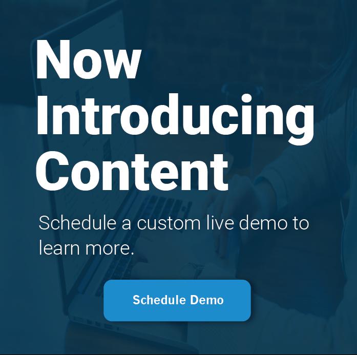Schedule Live Content Demo