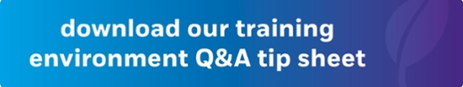 download our training Q&A tip sheet