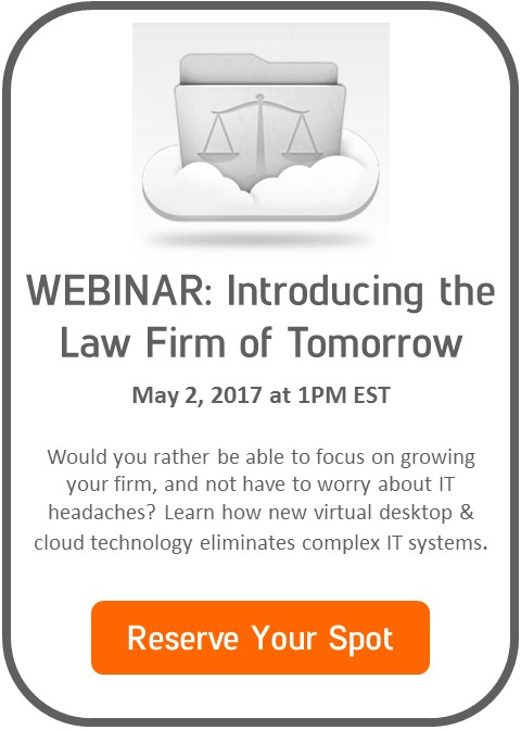Reserve your spot for Law Firm of Tomorrow Webinar May 2, 2017