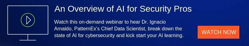 An Overview of AI for Security Pros | A PatternEx Webinar
