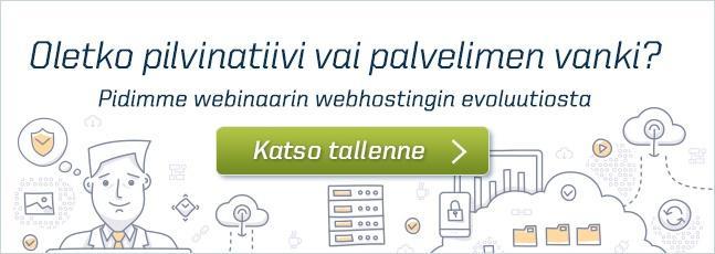 Webhostingin evoluutio - katso webinaaritallenne
