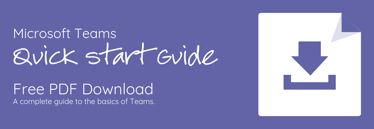 MS Teams Quick Start Guide PDF download