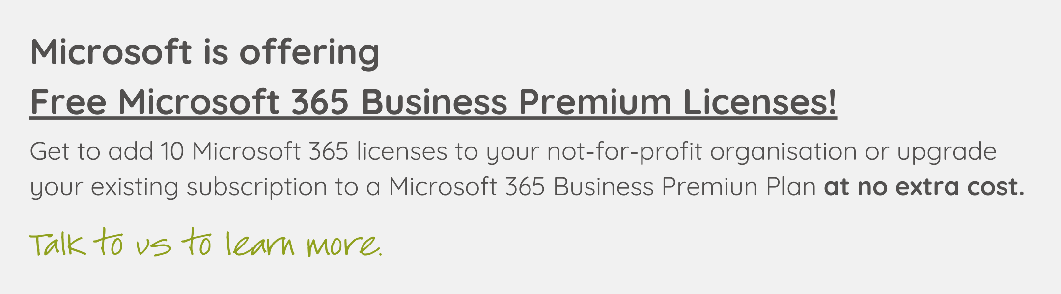 Free Microsoft 365 Business Premium Licenses for NFPs