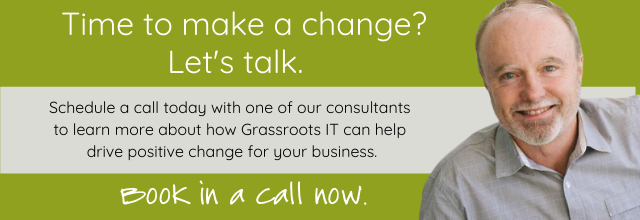 Schedule a call with an IT expert at Grassroots IT