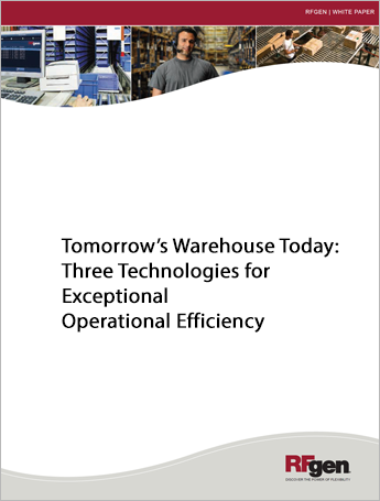 Tomorrow's Warehouse Today: Three Technologies for Exceptional Operational Efficiency