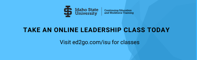 TAKE AN ONLINE LEADERSHIP CLASS TODAY Visit ed2go.com/isu for classes