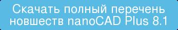 Скачать полный перечень новшеств nanoCAD Plus 8.1