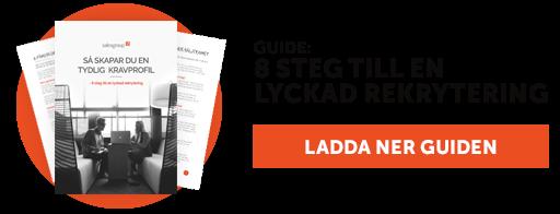Ladda ner guide 8 steg till en lyckad rekrytering