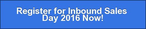 Register for Inbound Sales  Day 2016 Now!