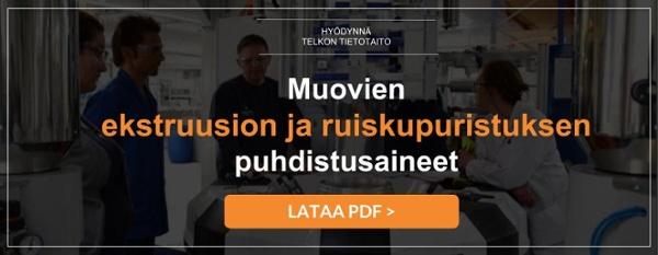 Telko_Muovien ekstruusion ja ruiskupuristuksen puhdistusaineet