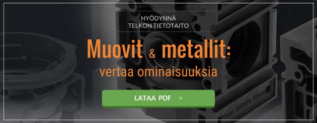 Vertaa muovia ja metallia