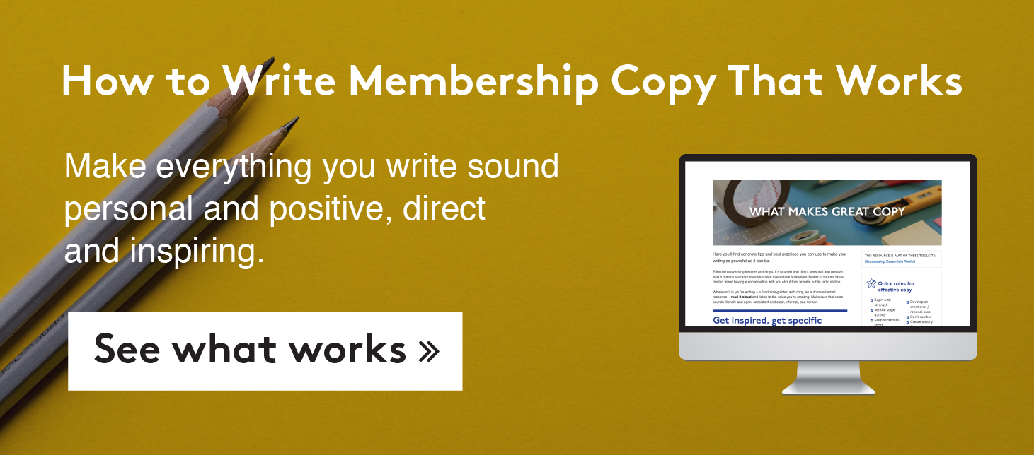 How to write member copy that works >>