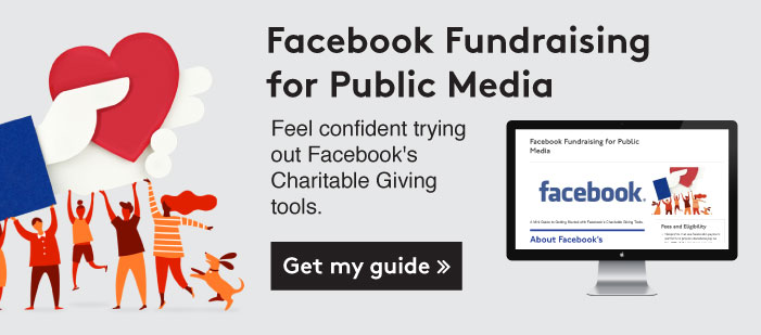 Get my guide on Facebook's charitable giving tools >>
