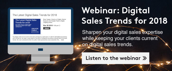 Listen to a webinar on 2018 digital sales trends >