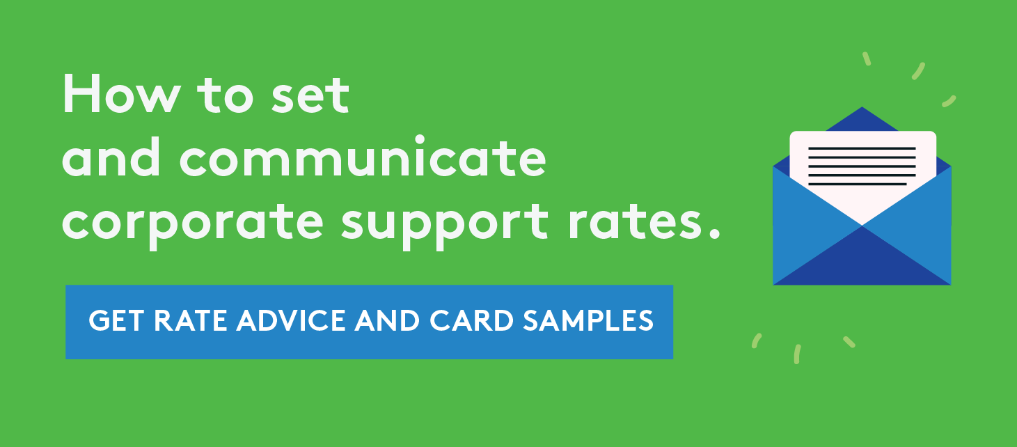 Set and Communicate Corporate Support Rates