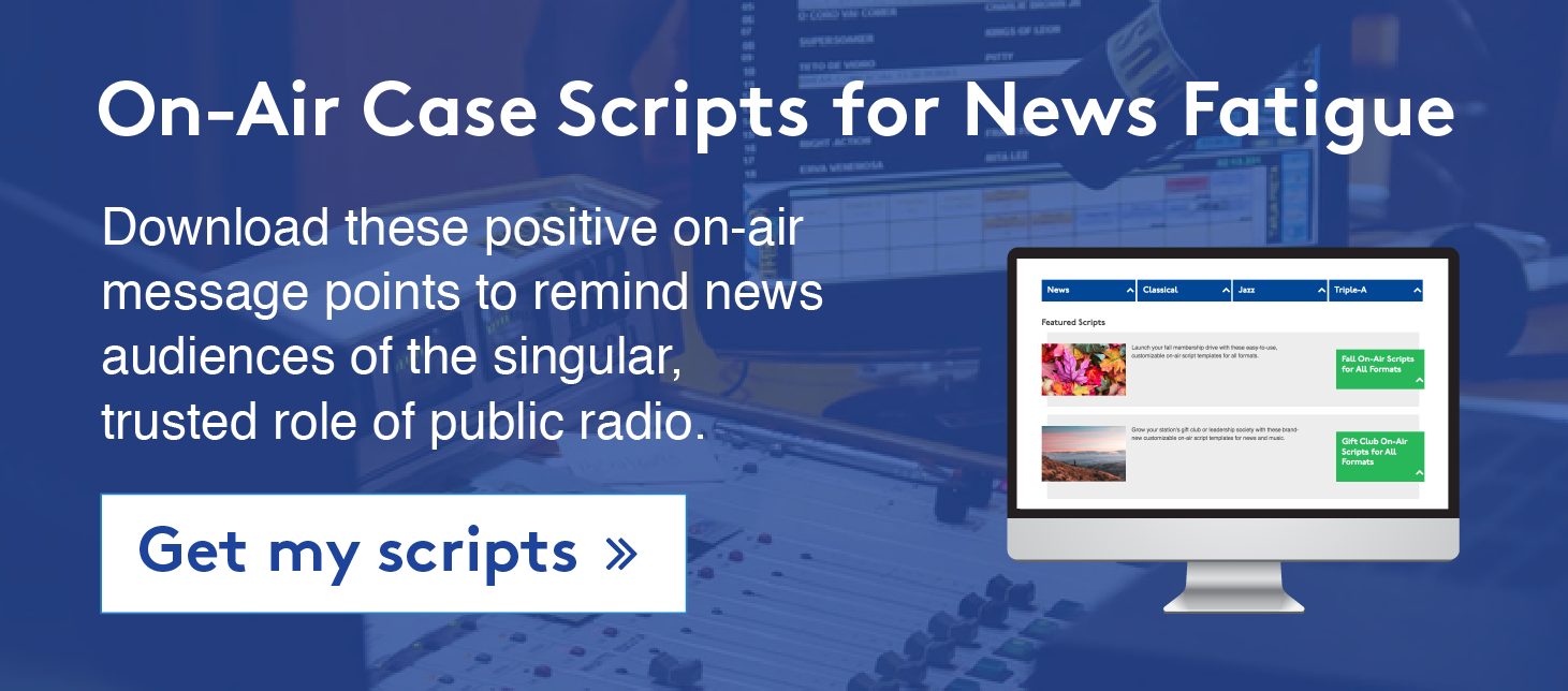 On-Air Case Scripts for News Fatigue