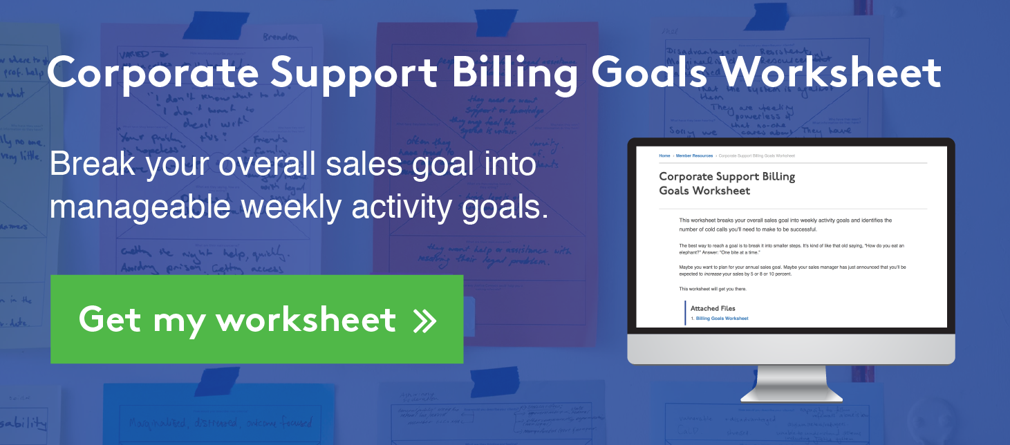 Corporate Support Billing Goals Worksheet