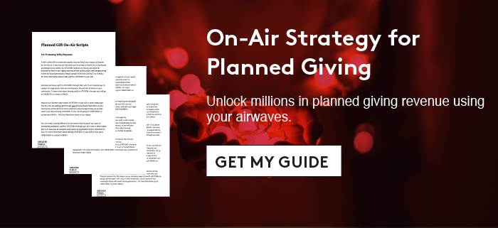 Edge Offer: On-Air Strategy for Planned Giving