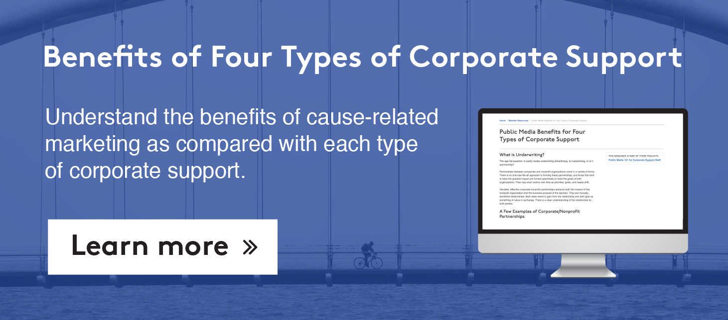Benefits of Four Types of Corporate Support >>