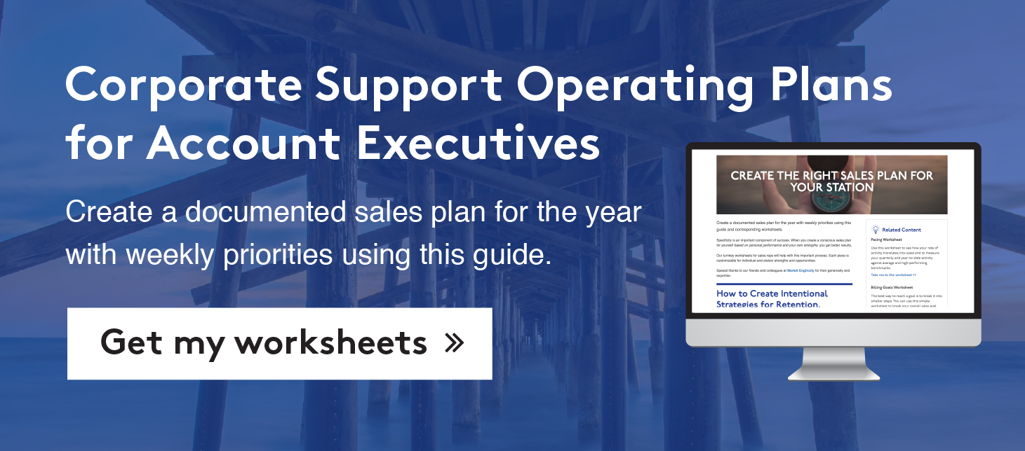 Corporate Support Operating Plans for Accounts Executives
