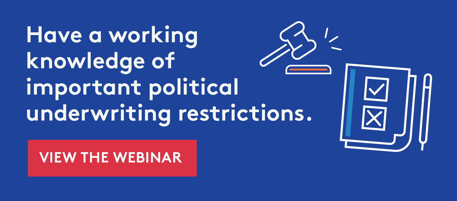 Political Underwriting Restrictions