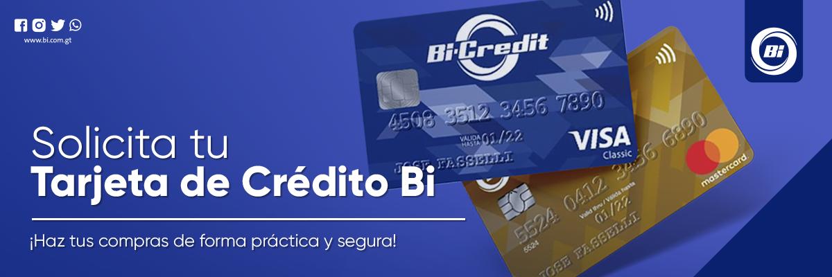 Solicita aquí tu tarjeta de crédito Bi