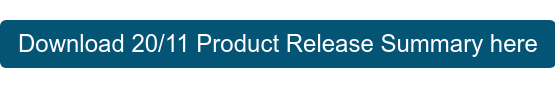 Download 20/11 Product Release Summary here